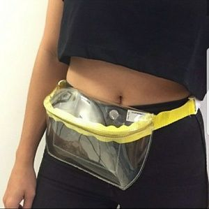 clear american apparel fanny pack